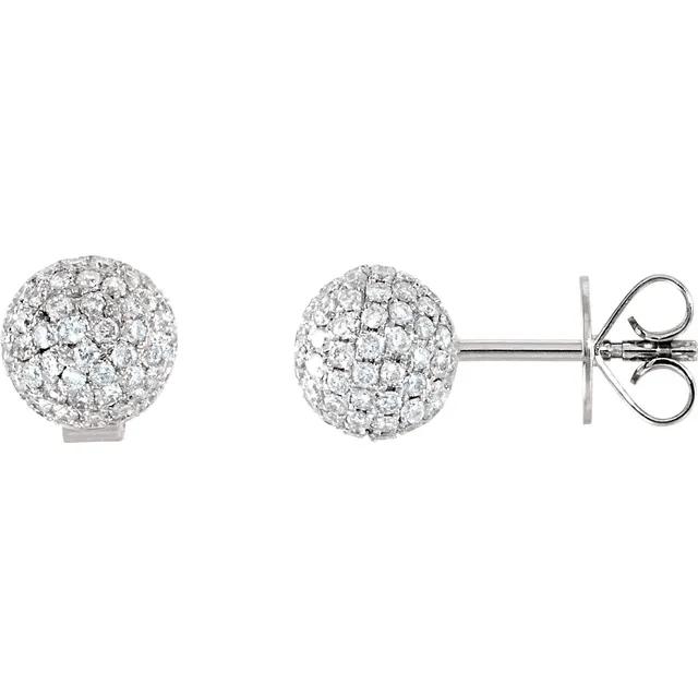 Pavé Ball Stud Earrings from Leonard & Hazel™