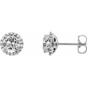 Platinum 1/3 CTW Diamond Earrings from Leonard & Hazel™