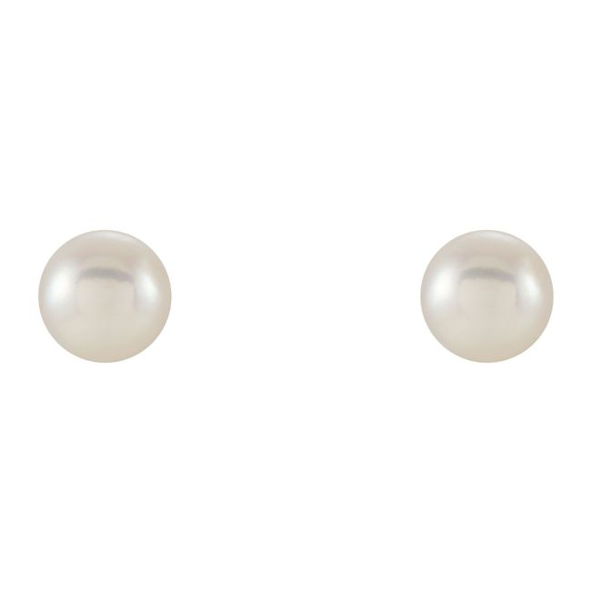 Freshwater Cultured Pearl Earrings set in 14K Yellow Gold from Leonard & Hazel™