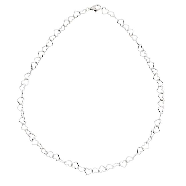 Sterling Silver 6mm Heart Link 7.25 Chain from Leonard & Hazel™