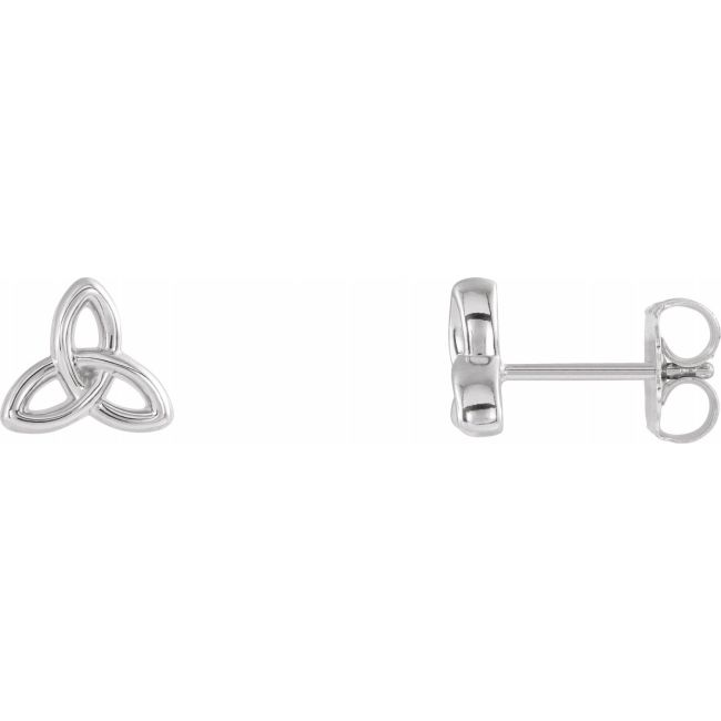Sterling Silver Celtic-Inspired Trinity Earrings from Leonard & Hazel™