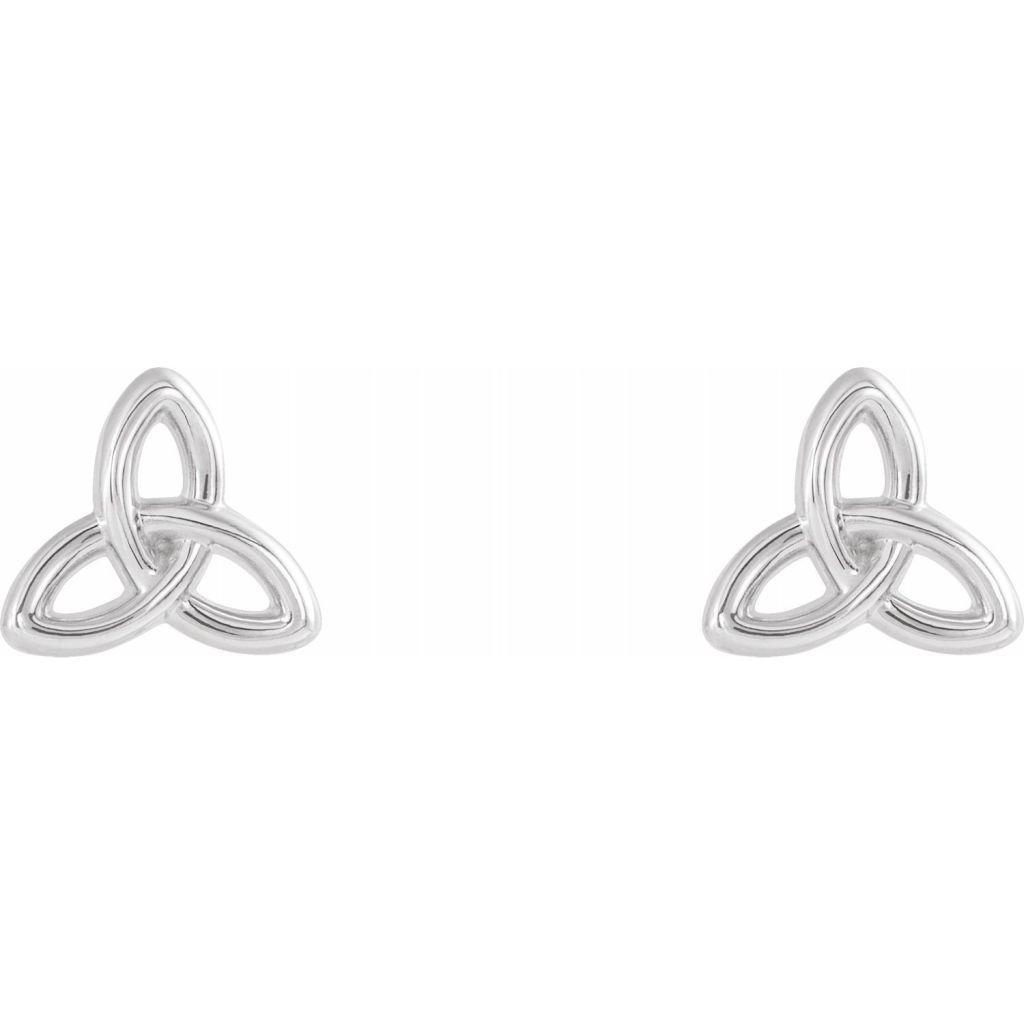 Sterling Silver Celtic-Inspired Trinity Earrings from Leonard & Hazel™