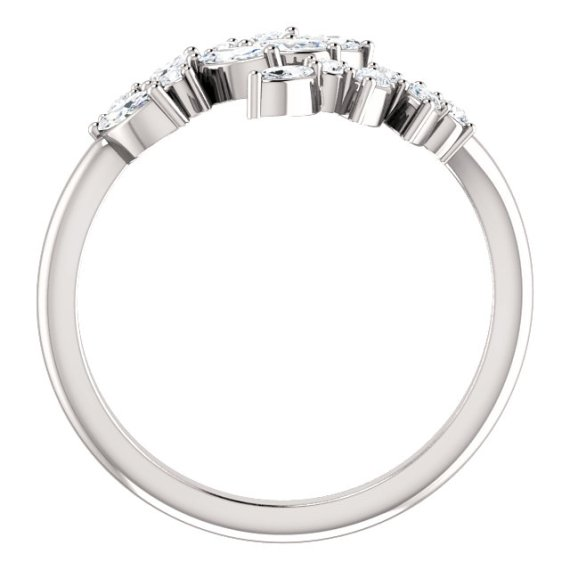14K White Gold 1:2 CTW Diamond Bypass Ring from Leonard & Hazel™