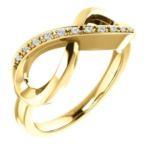 14K Yellow Gold .05 CTW Diamond Infinity-Inspired Ring from Leonard & Hazel™