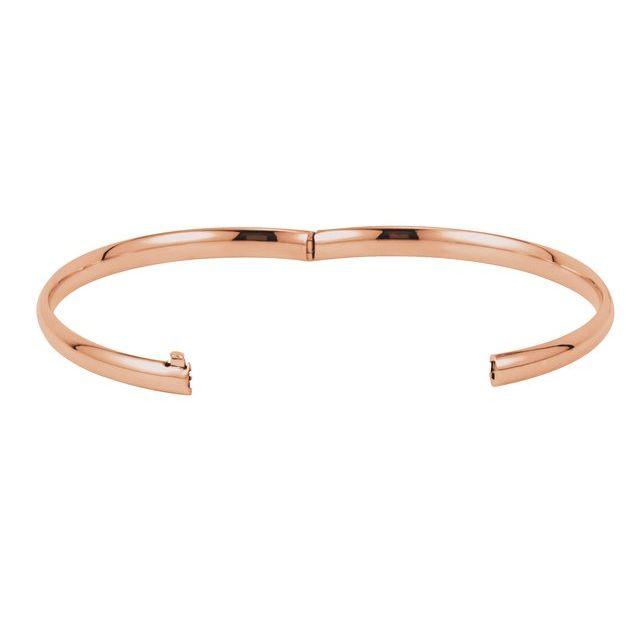 14K Rose Gold 4.75 mm Hinged Bangle Bracelet
