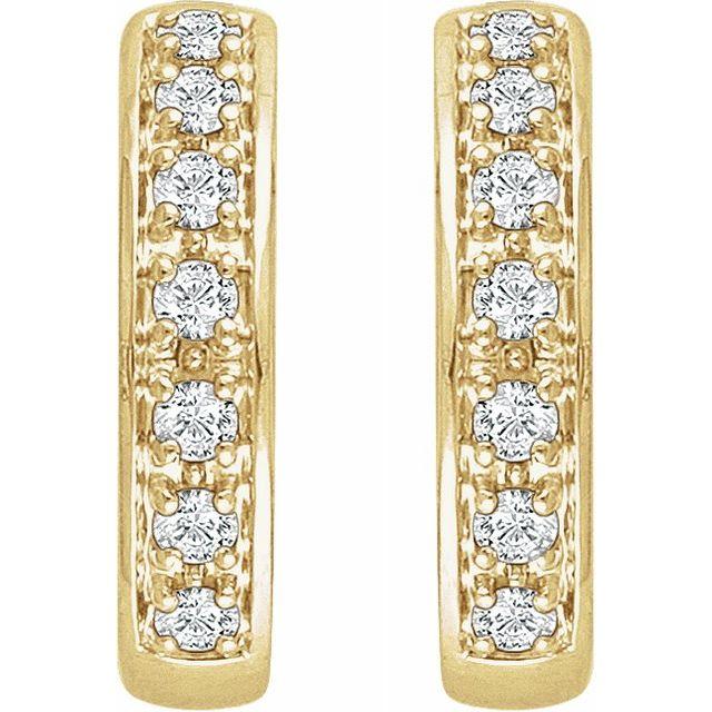 14K Yellow 1:3 CTW Diamond Earrings