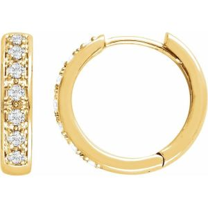 14K Yellow 1:3 CTW Diamond Earrings