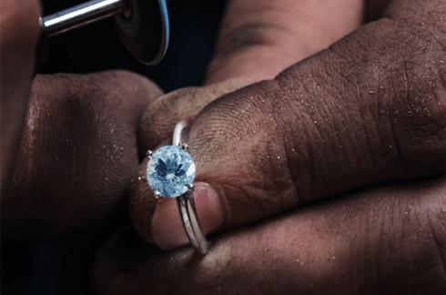 Gemstone in ring