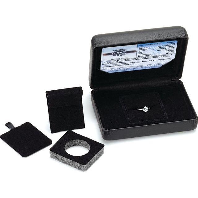 Black Leatherette Stone:Jewelry Box