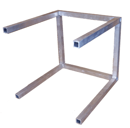 Aluminum oven rack to raise bubble frames