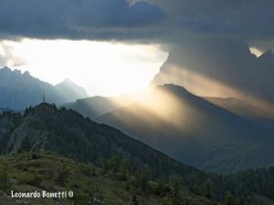 Tramonto sulle dolomiti - Monte Rite