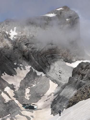 Picco Cilindro, lago Helado e monte Perdido