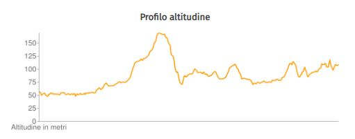 Altitude Profile Tuscany Francesco Way