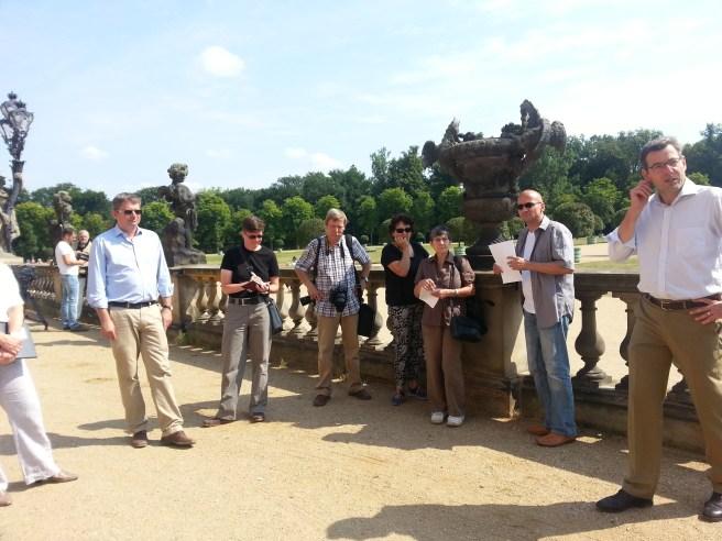 Spotkanie z dziennikarzami przez Neues Palais