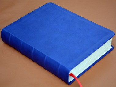 Smooth Blue Calfskin Bible