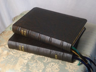 Dark Brown Hand-Dyed Rustic Goatskin Bibles