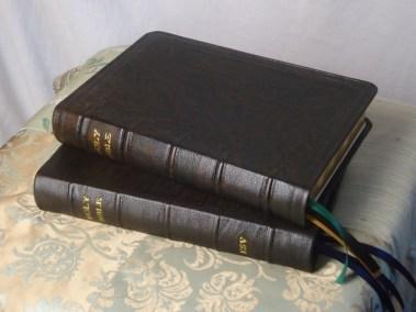 Dark Brown Hand-Dyed Natural Goatskin Bibles