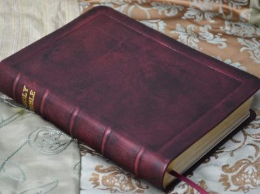 Mahogany Hand-Dyed English Calfskin Bible
