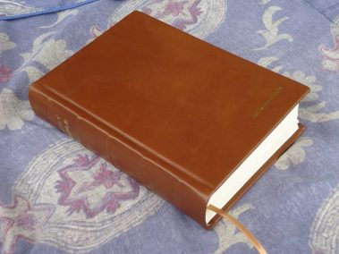 Hardcover Bible in Smooth Brown Calfskin