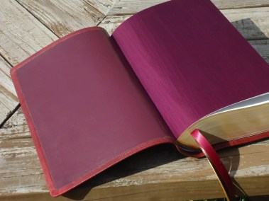 Burgundy Lambskin with Burgundy Japanese Book Cloth