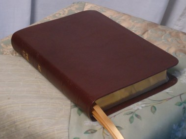 Brown River Grain Goatskin Bible