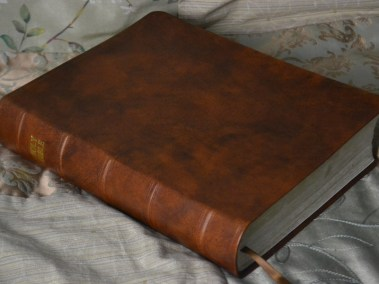 Tan Hand-Dyed English Calfskin Bible