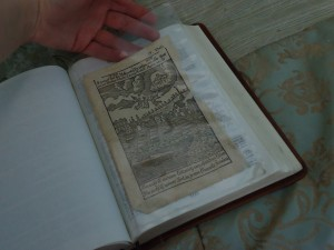 The clear archival pocket can open at the top or on the fore-edge