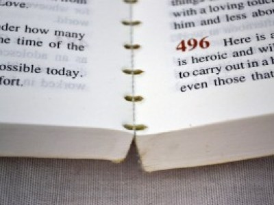 This devotional book was glued, not sewn.