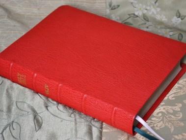 Red Sokoto Goatskin Bible
