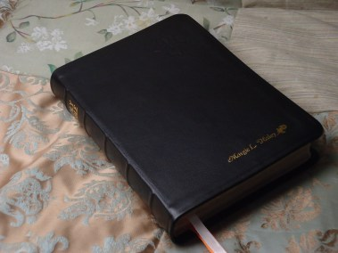 Smooth Black Calfskin Bible