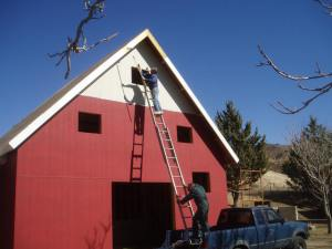 The Leona Valley Heritage Park Museum under construction #2-supported by the Gala Under the Stars