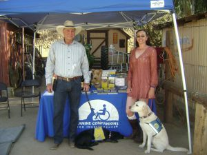 2018 - Gala Under the Stars - Clifford Meridth owner of Stray Leaf Vineyard and Melissa Billingsley rep. for Canine Companions for Independence
