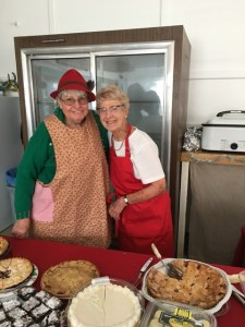 2018 Senior Christmas Dinner dessert team, Beverly Brownfield (left) and Betty Wade (right).