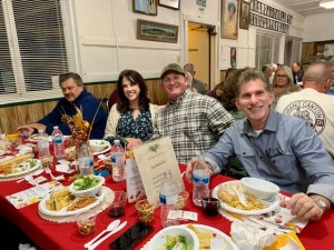 A table of satisfied diners at the Murder Mystery dinner theater.