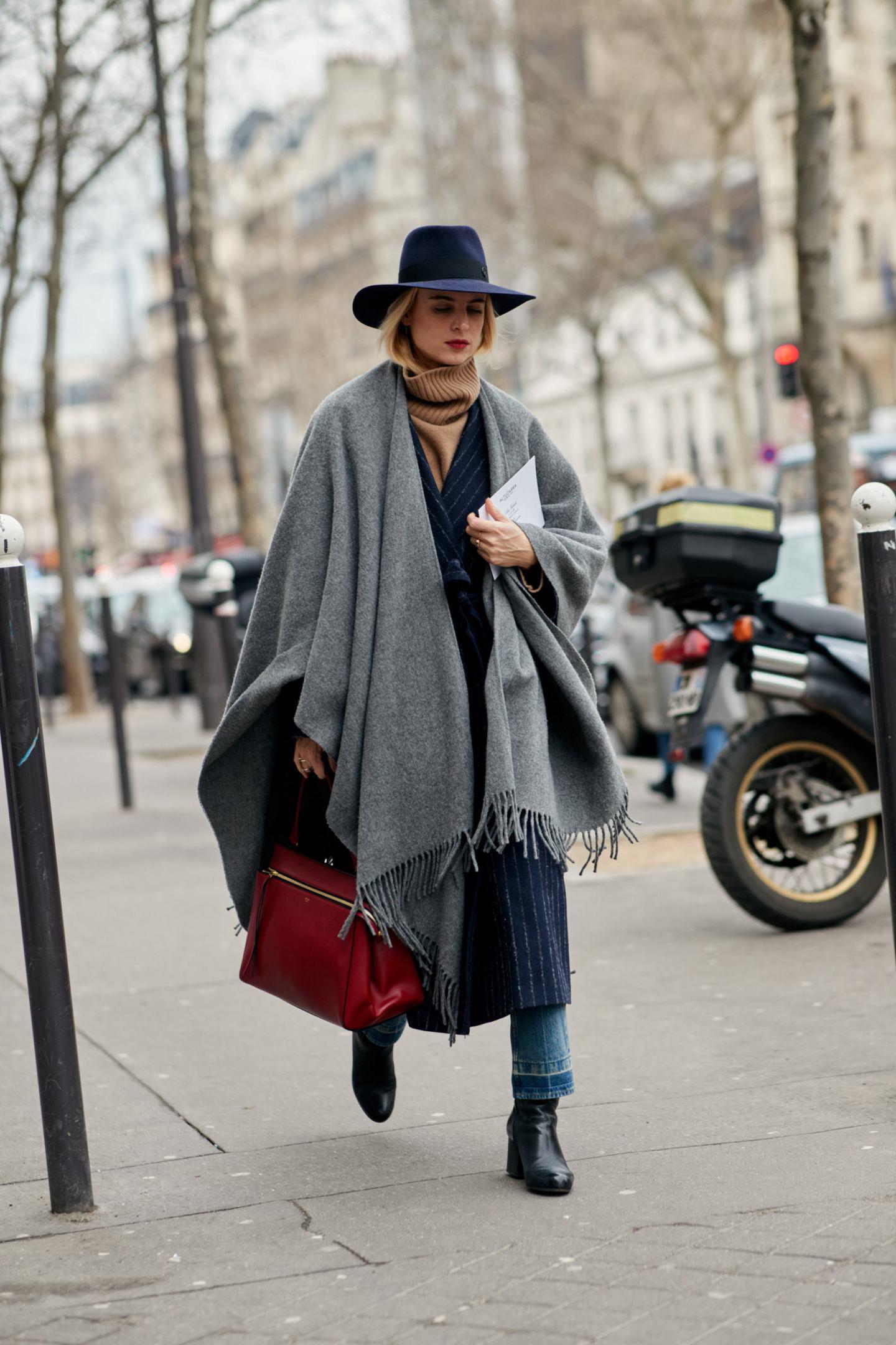 paris street style wool fedora hat