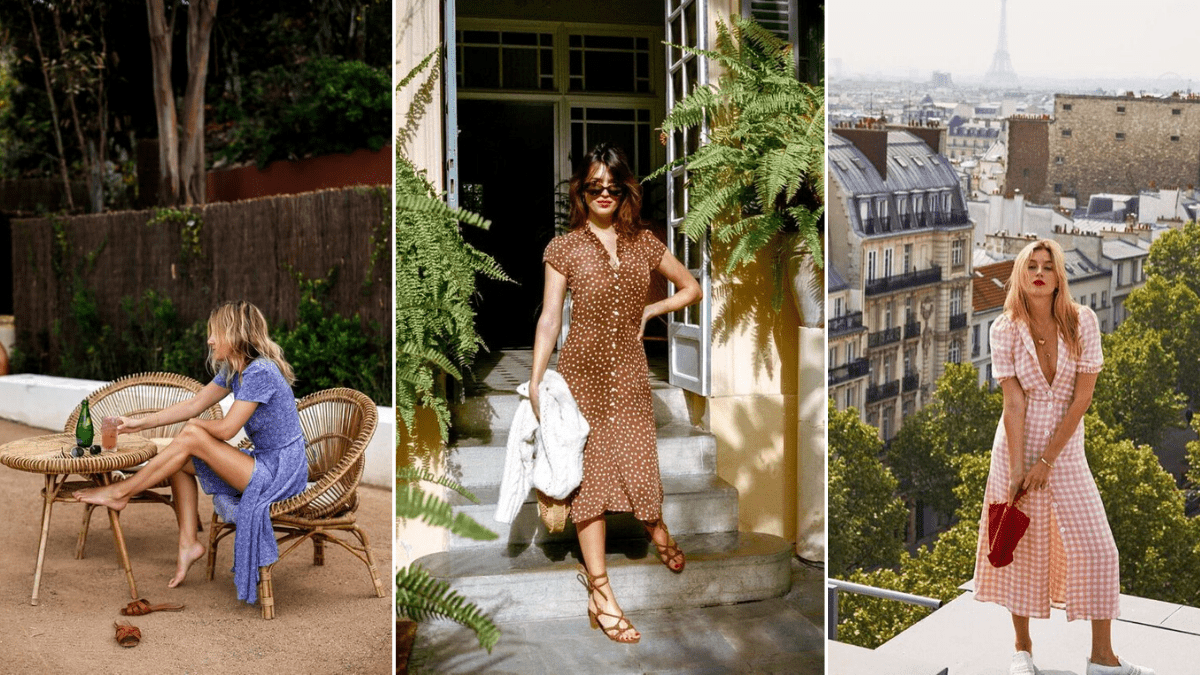 french girls wearing summer dresses