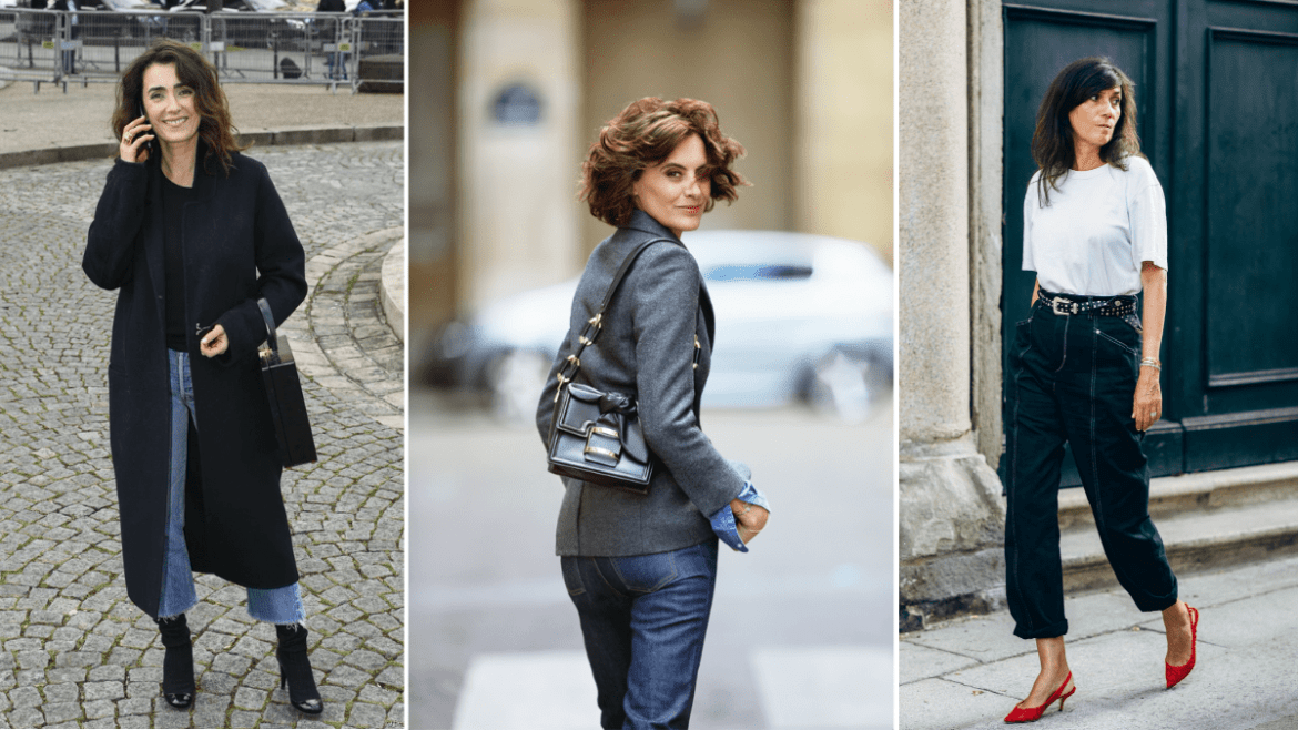 french women over 50 street style in paris