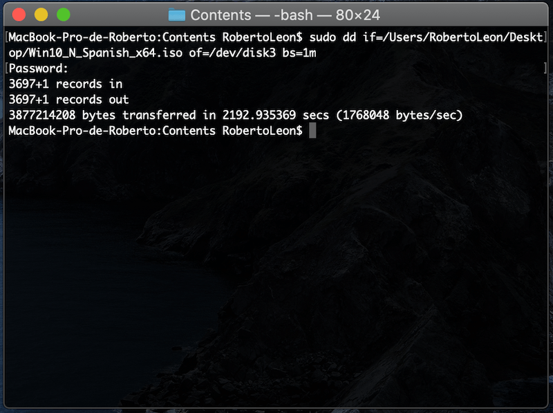 Crear USB booteable en Mac