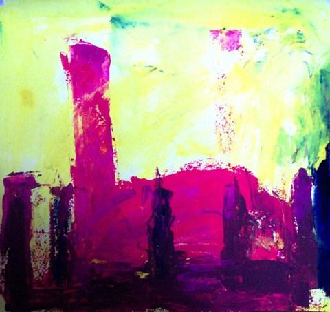 drawing pastel landscape