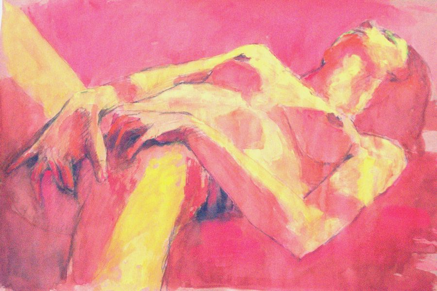 nude drawing masturbation nude girl