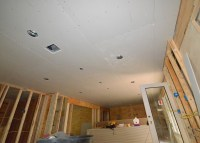 Hanging drywall, day 2: Ceilings R Us | Leonhouse