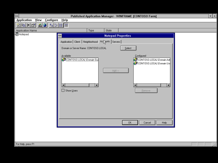 Citrix Winframe