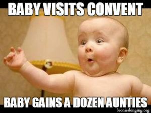 Baby in the convent!
