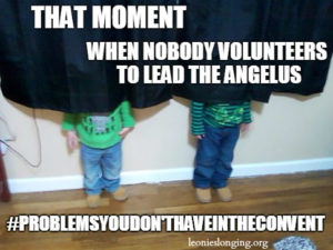 When nobody leads the angelus