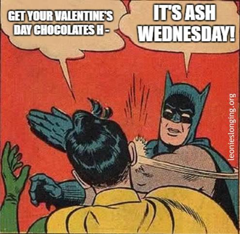 Ash Wednesday Meme