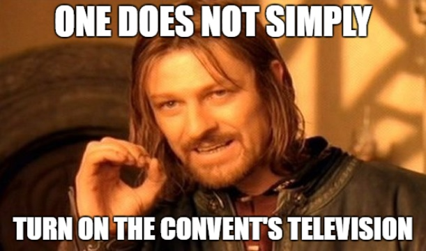 Television in the convent
