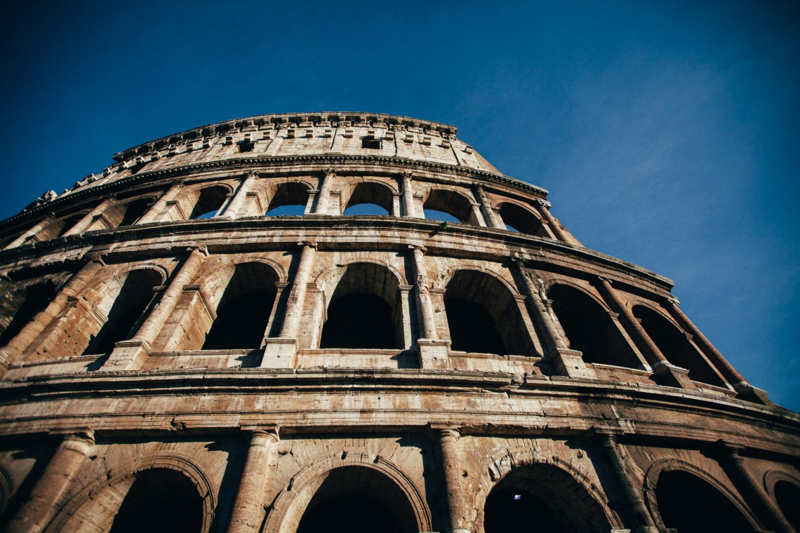 coliseum, rome. by leonie wise