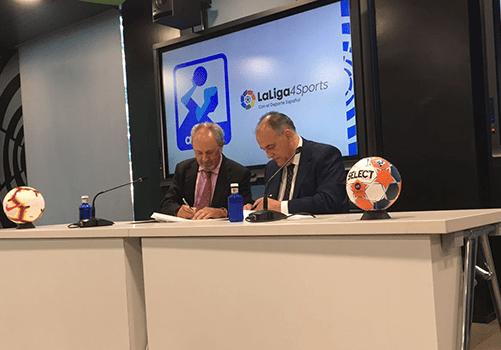 Firma acuerdo Asobal Liga