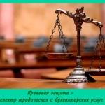 Правовая защита — спектр юридических и бухгалтерских услуг