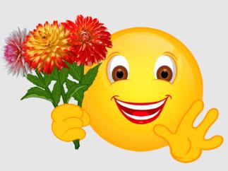 Smiley – drei Dahlien